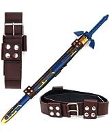 Link Hyrule Zelda Sword Leather Belt Strap, Brown, One Size