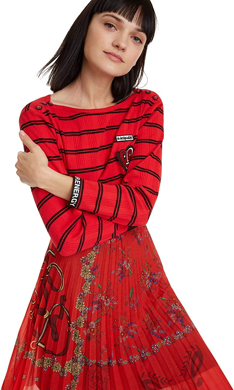 Desigual Skirt Andrea Jupe Femme Rouge Taille Fabricant: 40 42 Rojo Clavel 3036
