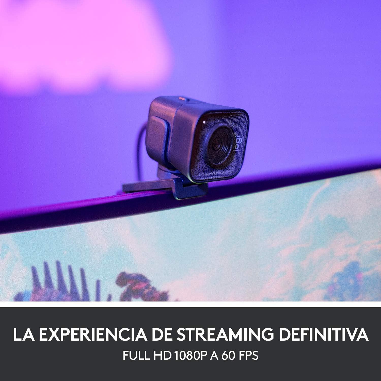 Logitech StreamCam, Cámara Web con USB-C para Streaming de vídeo y creación de Contenido, Vídeo Vertical Full HD 1080p a 60 fps, Versatilidad demontaje, para Youtube, Gaming Twitch, PC/Mac, Negro: Amazon.es: Informática