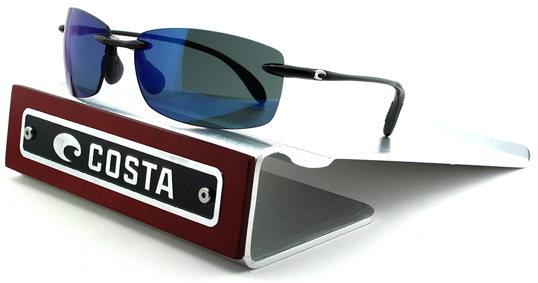 9206a3c36b Amazon.com  Costa Del Mar Ballast 580P Black Frame  Blue Mirror Lens (BA11  OBMP)  Clothing