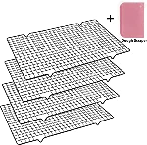 Mokpi Oven Safe Wire Cooling Racks Baking Grid Rack, Size 16''x10'', Heavy Duty Commercial Quality Rack