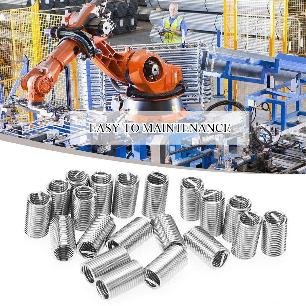 M10*1.5 * 3D Stahl Gewindeeins/ätze 50 St/ücke Edelstahl Gewindeeinsatz SS304 Spiraldraht Helical Gewindeeins/ätze M10