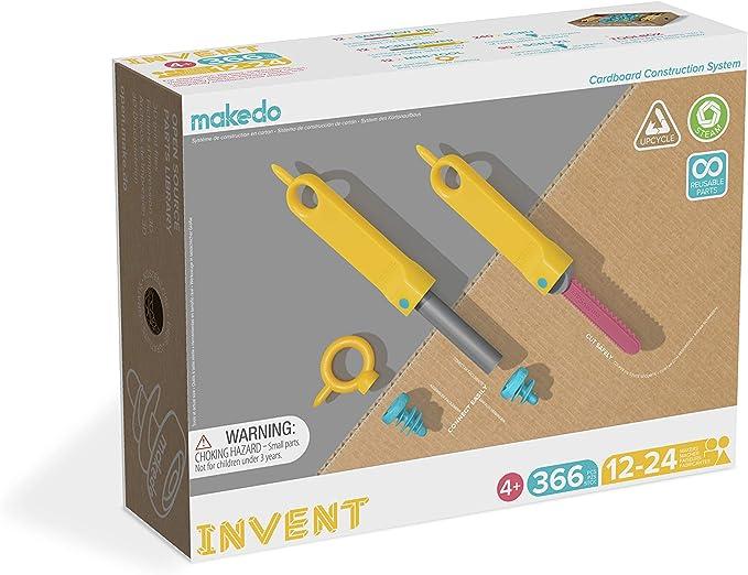 Cardboard Roller Kit Expansion Tools for Kids Cardboard Perforator for use Cardboard Construction Kit Makedo FOLD-Roller Cardboard Building Kit Expansion Pack Age 7+