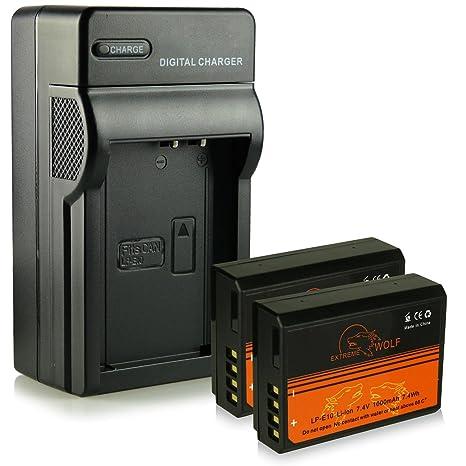 Cargador + 2x ExtremeWolf Batería LP-E10 para Canon EOS ...