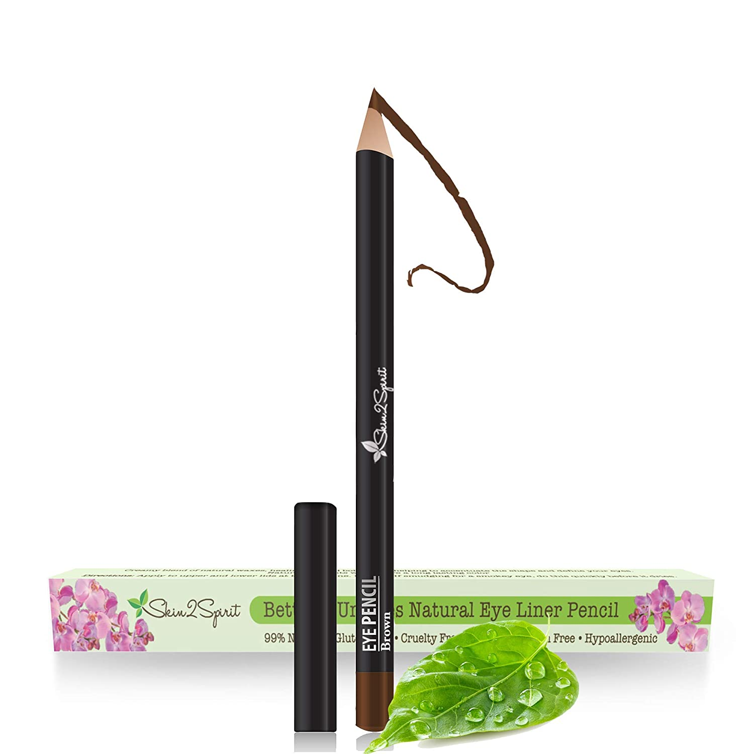 Better'n Ur Eyes Natural Eyeliner Pencil: BROWN | Hypoallergenic & Great for Sensitive Eyes | Natural | Vegan | Certified Cruelty Free | Paraben Free | Gluten Free | Smooth Application | Long Lasting