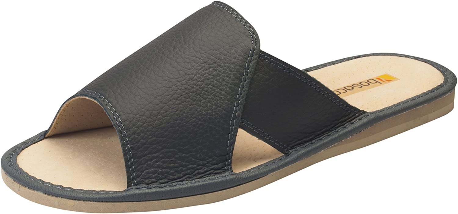 Hommes confort luxe chaussons Cuir veritable