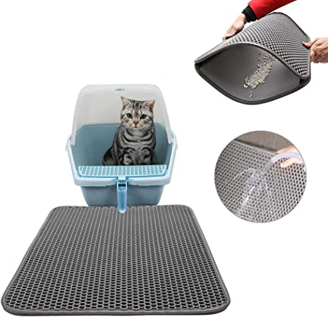 Cozywind Estera de Arena para Gatos, Alfombra para Gatos,40 x 50 cm,FÁCIL DE Limpiar, Impermeable Alfombra de Basura de Doble Capa (Gris): Amazon.es: Productos para mascotas
