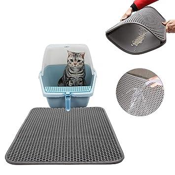Tofree - Alfombrilla de Arena para Gatos, Doble Capa, Impermeable, Alfombra de Arena elástica, 50 x 40 cm: Amazon.es: Productos para mascotas