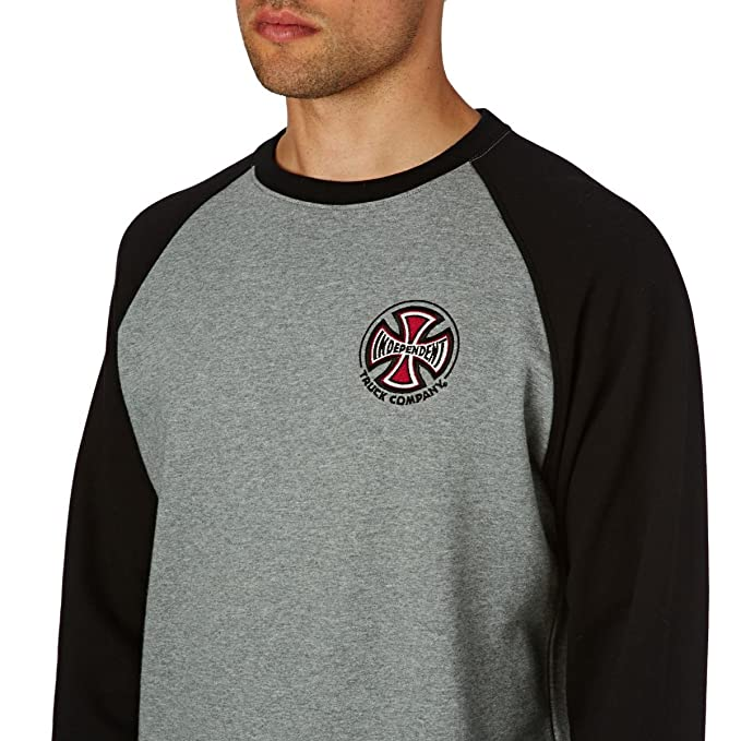 Independent TC Raglan Crew Black/Dark Heather: Amazon.es: Ropa y accesorios
