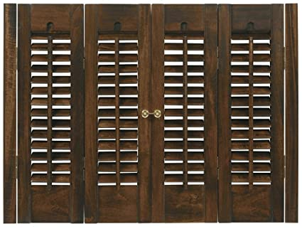 Interior Shutter Kits 1 1/4u0026quot; Louver, Bass Wood (Stain Finish