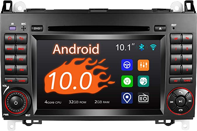 Amaseaudio Android 10 Car Radio 2 Din For Benz W169 W245 W906 7 Inch Touch Screen Indash Dvd Player Dsp Supports Car Gps Navigation Hd1080p Obdii Navigation Car Hifi