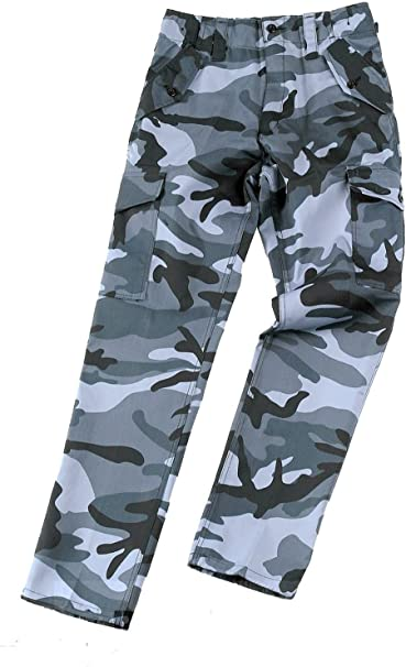 CAMOUFLAGED COMBAT ARMY CARGO TROUSERS SIZE 42 blue new