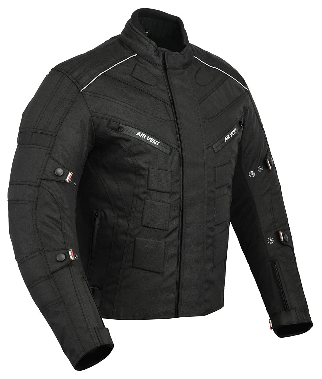 Waterproof Motorbike Motorcycle Jacket in Cordura Fabric and CE Approved Armour Black /& Green, X-Small JKT-007 6 Packs Design Most Popular