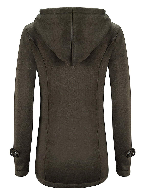 BYD da Donna Addensare Il Cappotto con Cappuccio con Peluche Giacche Abbottonato Parka Primavera Outwear