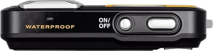 Pentax Optio Ws80 Digitalkamera 2 7 Zoll Schwarz Orange Kamera