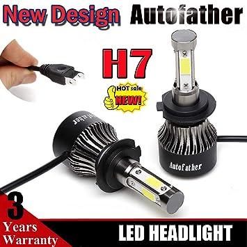 H7 LED bombillas para faros delanteros 20.000 Lm 6000 K puro blanco Super brillante alto/bajo Beam Luces Antiniebla Kit de conversión 2pcs: Amazon.es: Coche ...