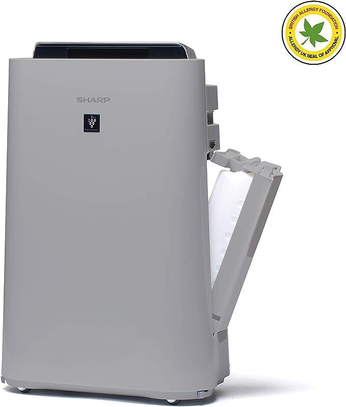 Sharp UA-HD60E-L Purificador de aire con tecnología Plasmacluster-Ion, función humificador, tres niveles de filtro ...