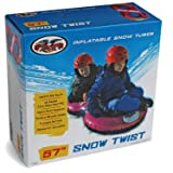 Flexible Flyer Snow Twist 2-Person Inflatable Tube. Double Sled