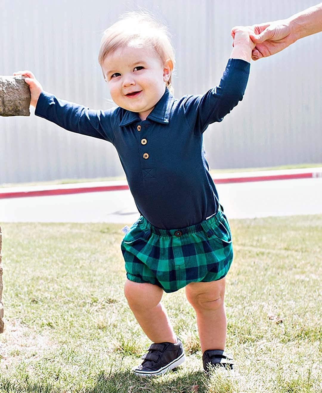 RuggedButts Baby//Toddler Boys Buffalo Plaid Bloomer w//Pockets BBWYYXX-BF00-SC-BABY