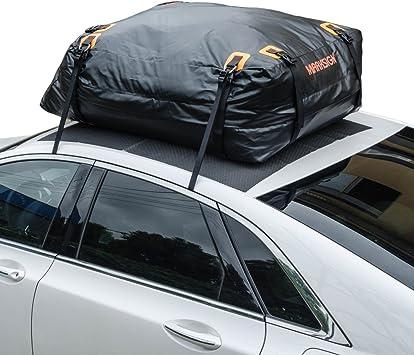 Nylon UV Proof Straps 19 cu ft Waterproof Zipper and Rain Flap MARKSIGN 100/% Waterproof Car Rooftop Cargo Carrier Bag