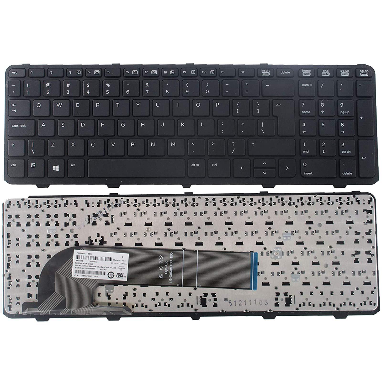 Teclado USA para HP Probook 450 G0 450 G1 Series Black US La