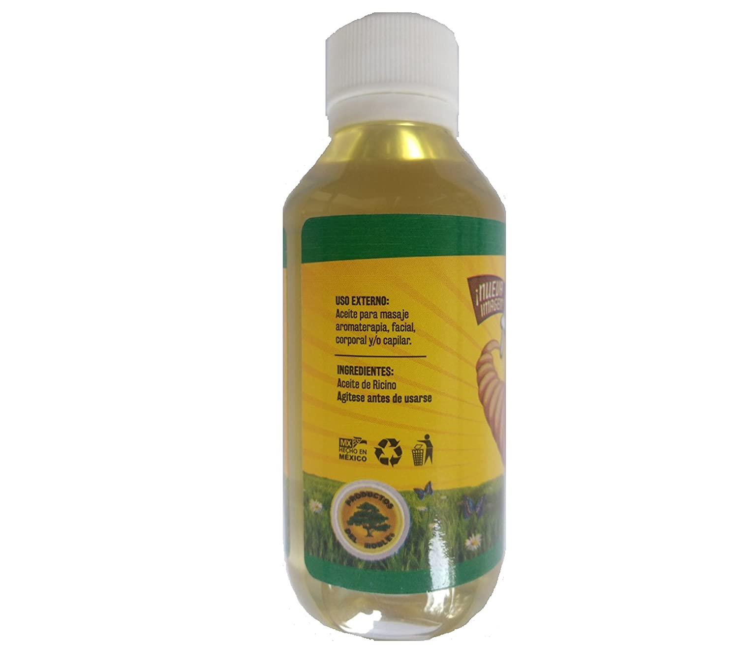 Amazon.com : Aceite de Castor, Castor Oil, Aceite de Ricino, Ricino Oil, 120ml. Oil for Massage, Aromatherapy, Facial, Body and / or Hair. : Beauty