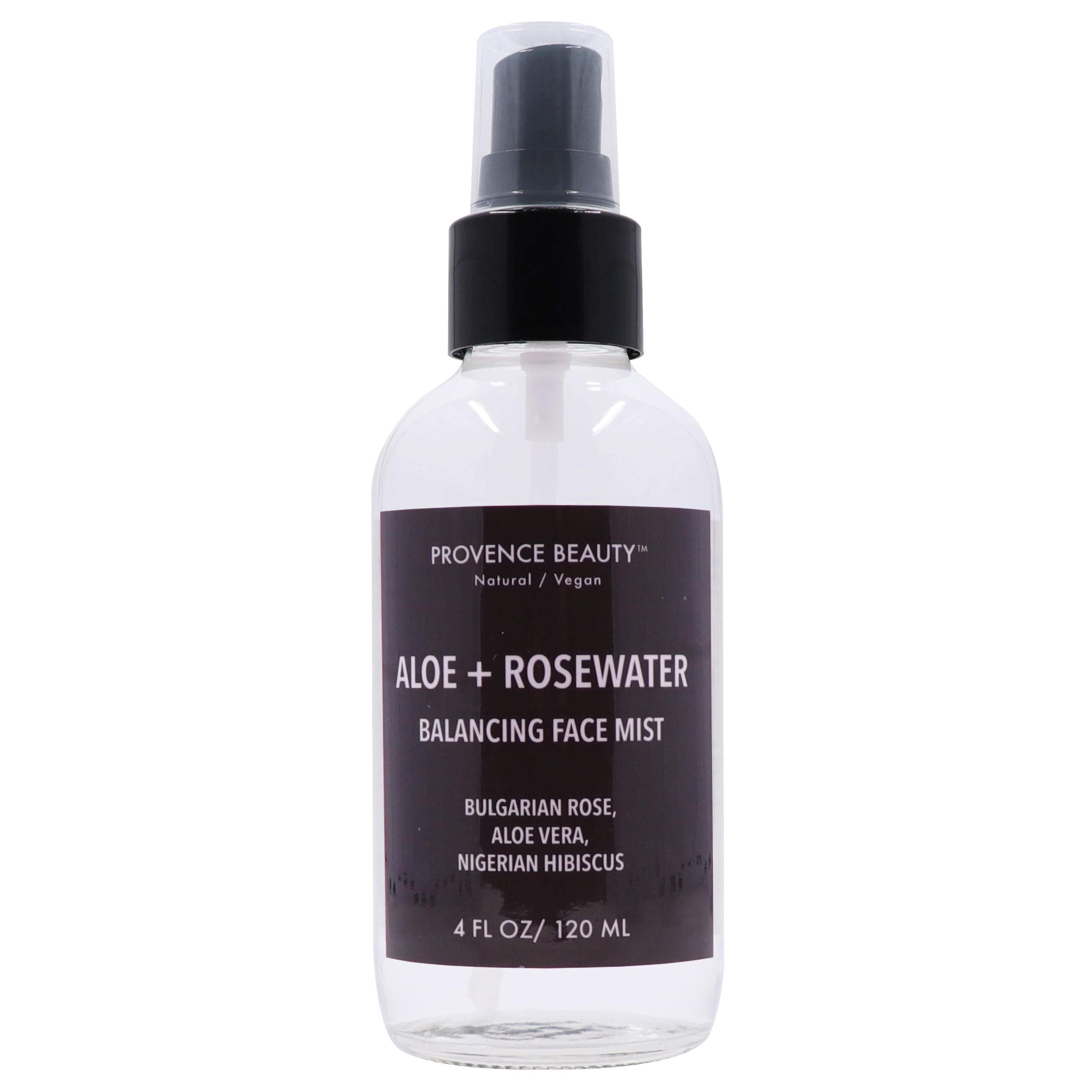 Provence Beauty   Aloe + Rosewater - Balancing, Refreshing & Soothing Facial Mist - Infused with Bulgarian Rose, Aloe Vera, Nigerian Hibiscus - 4FL OZ by Provence Beauty