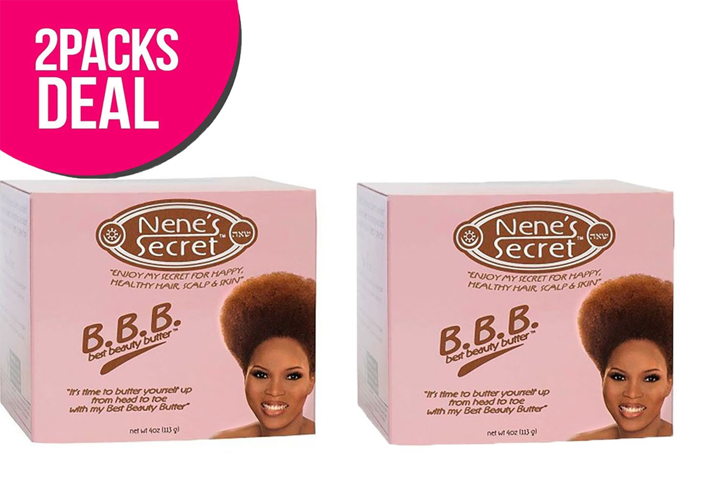 (2 PACK) Nene's Secret Best Beauty Butter 4 oz