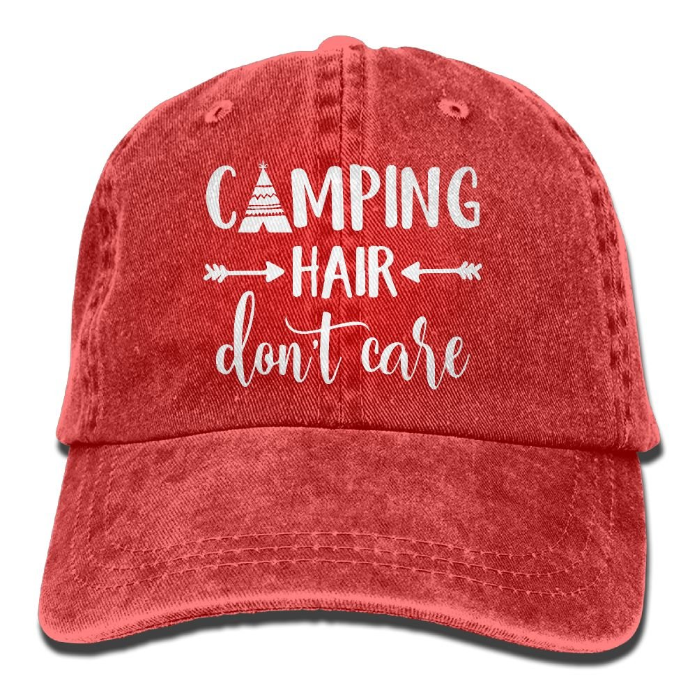 50f202114f7 HHNLB Unisex Camping Hair Don t Care 1 Vintage Jeans Baseball Cap Classic  Cotton Dad Hat