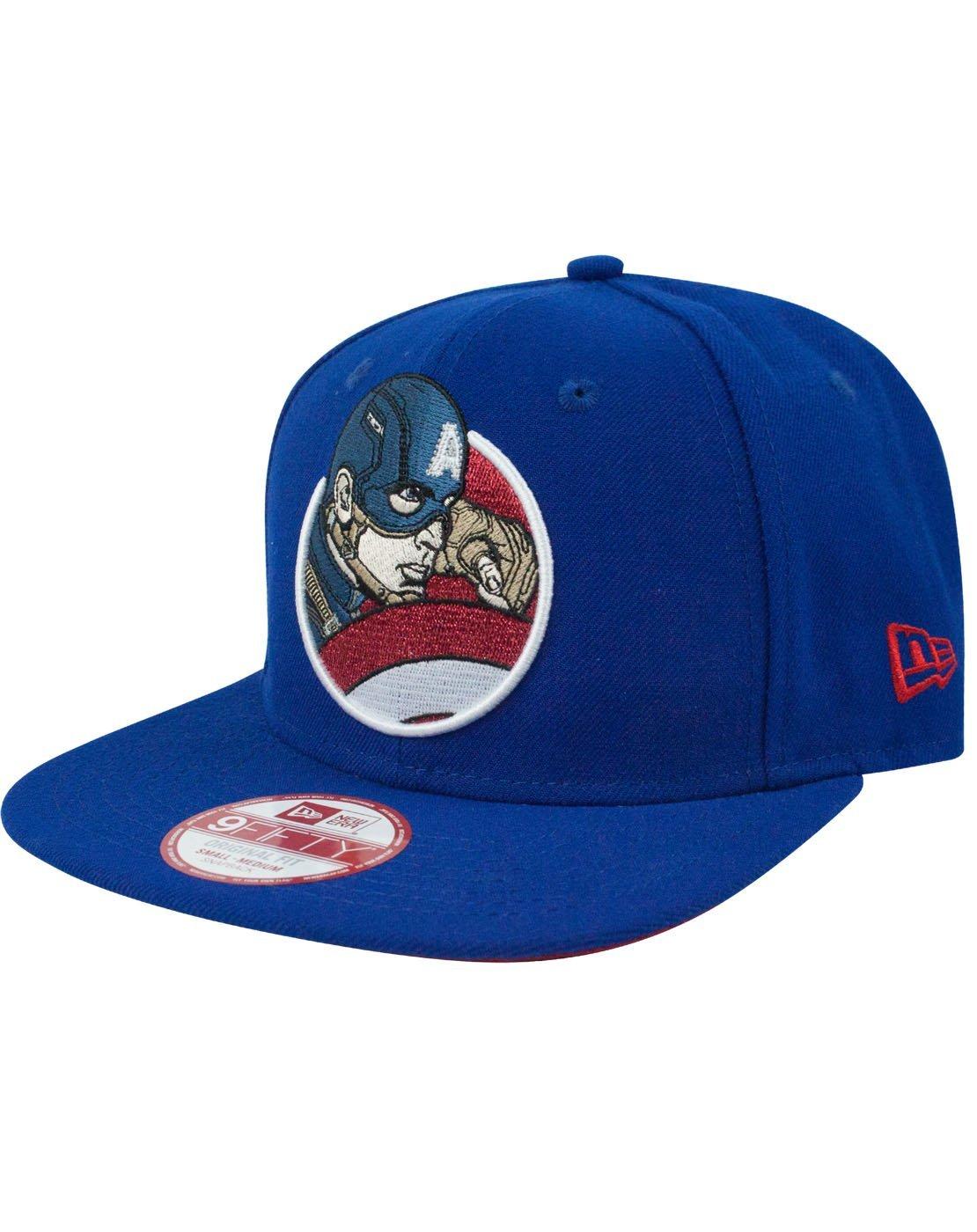 New Era 9Fifty Captain America Retroflect Snapback Cap (M-L)