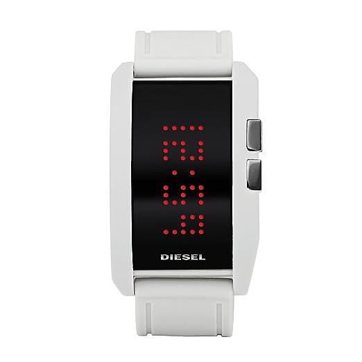Diesel DZ7167 - Reloj Unisex de Cuarzo, Correa de Silicona Color Blanco: Diesel: Amazon.es: Relojes