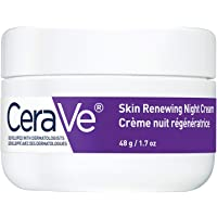 CeraVe Night Cream for Face   Skin Renewing Night Cream With Hyaluronic Acid & Niacinamide   Fragrance Free, 48 Grams