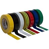 Cinta aislante Multicolor 7piezas 20mm 15m Electricista cinta