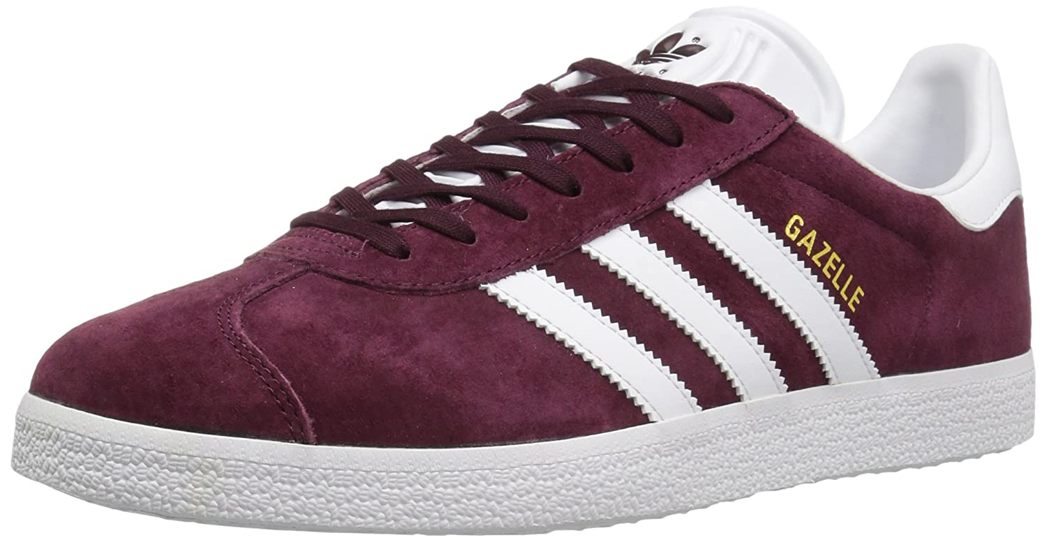 adidas Men's Gazelle Casual Sneakers B01HHJV622 11.5 M US|Maroon/White/Metallic/Gold