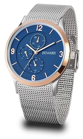 Reloj Duward Hombre en Acero Malla milanesa,Reborde Esfera Rosado.5TM.D95706.85: Amazon.es: Relojes