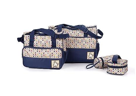 Ceiceili Set 5 kits Bolsa de Mama Para Bebe Biberon Bolso/Bolsa/Bolsillo Maternal Bebé para carro carrito biberón colchoneta comida pañal de color ...