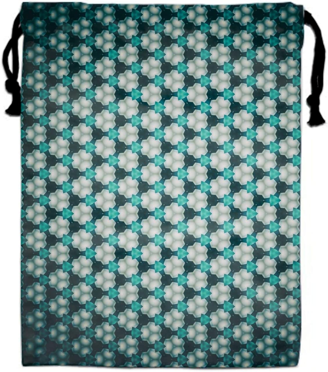 Fractal Patterns Glitter Abstraction Blue Backpack for Women and Girls Casual Daypack Book School Bag