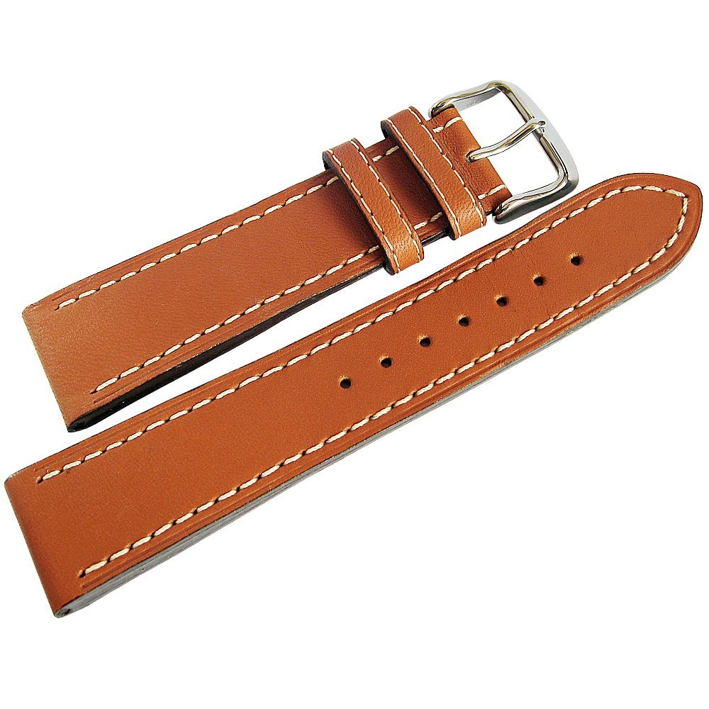 Di-Modell Jumbo 22mm Tan Leather Watch Strap by Di-Modell