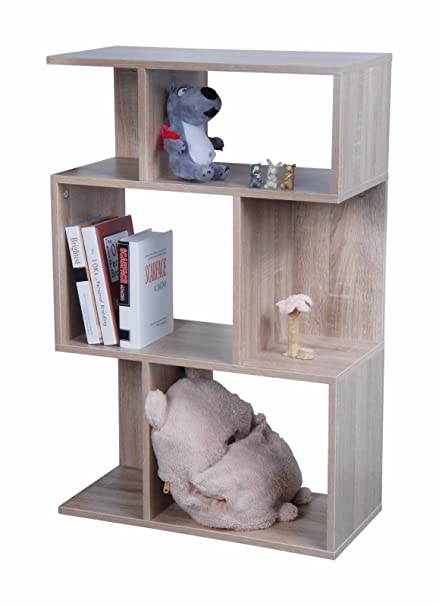 3 TIER MODERN STYLISH SONOMA LIGHT OAK WOODEN BOOKCASE DISPLAY SHELF STEP CABINET  UNIT