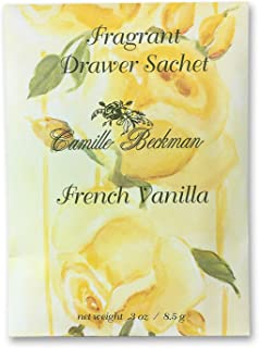 product image for Camille Beckman Premium Fragrant Drawer Sachet, French Vanilla, 0.3 Ounce (3 Pack)