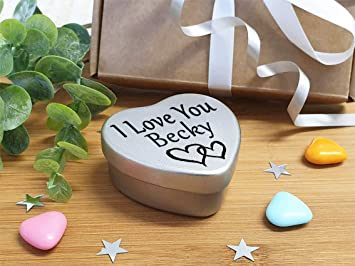 Happy Birthday Becky Mini Heart Tin Gift Present For Becky WIth Chocolates