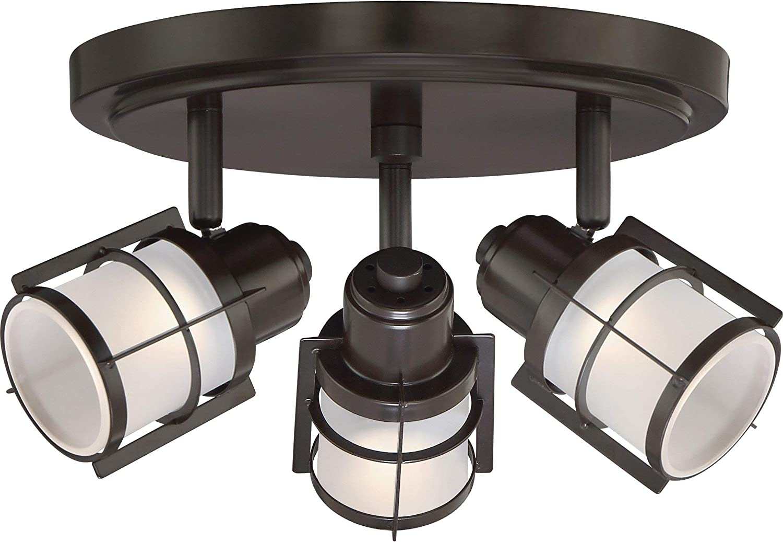 Quoizel Wns1610wt Winside Directional Spot Light Flush Mount Ceiling Lighting 3 Light Led 15 Watts Western Bronze 7 H X 12 W Amazon Com