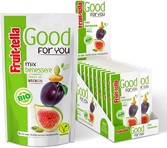 Fruittella Good For You Mix Benessere Bio Mix Di Frutta Secca Frutta Disidratata E Semi Biologico Fonte Di Magnesio Formato Scorta Da 20 Snack Monodose Da 35 Gr Amazon It Alimentari E Cura