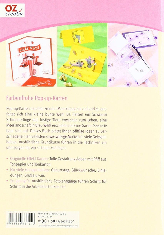 24 Tier Karten zum Basteln Bastelzubeh/ör f/ür Gru/ßkarten Pop-Up-Karten Bastelpapier Block Logbuch-Verlag Pop-Up Karten Bastelblock