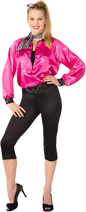 1950s Costumes- Poodle Skirts, Grease, Monroe, Pin Up, I Love Lucy T-Bird Sweetie 50s Womens Costume $29.99 AT vintagedancer.com