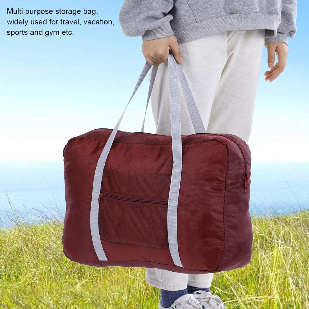 Red Gym and Vacation Yosooo Travel Foldable Duffel Bag Luggage Sports Gym Water Resistant Nylon Lightweight Luggage Bag for Sports