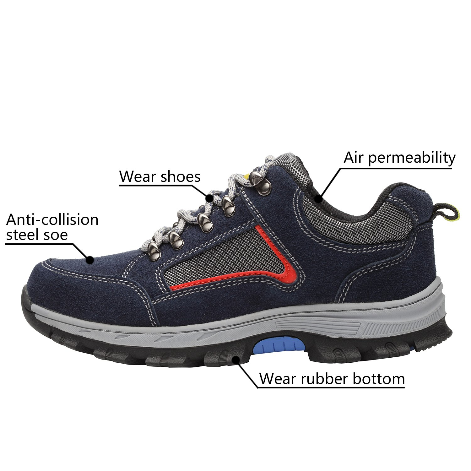 Optimal Women's Safety Shoes Work Shoes Protect Toe Shoes by Optimal Product (Image #2)