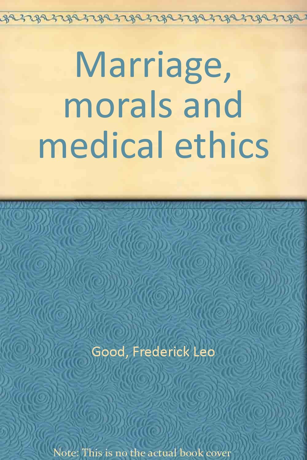 marriage ethics and morals