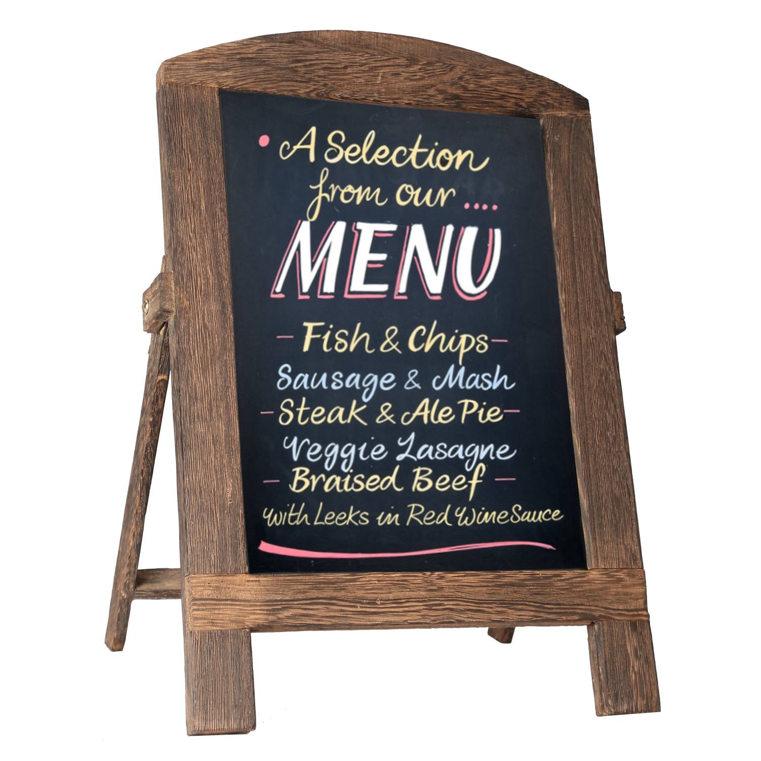 Standing Vintage Small Framed Tabletop Kitchen Chalkboard,Mini Kitchen Easel-Style Dry Erase Chalk Board Sign for Rustic Wedding Decor (White, 14x9) EBYTOP