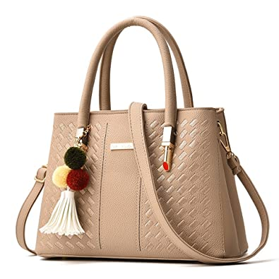 Office Stereotypes To Donalworld Women Retro Solid Office Stereotypes Hard Pu Leather Bag Beige
